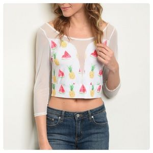 Cheeky Tops - NEW! 3 FOR $40 • Watermelon and Pineapple Crop Top